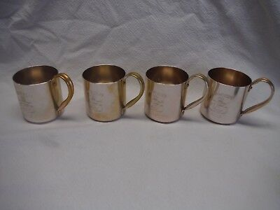 Set Of 4 Smirnoff Vodka Copper Colored Moscow Mule Cups