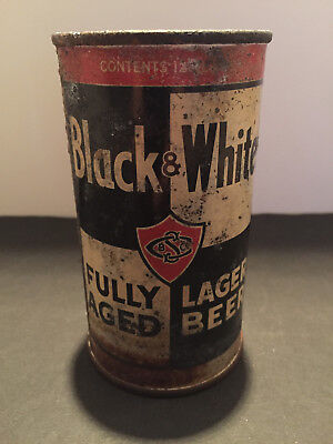 Black & White Flat Top Beer Can..st Claire Brwg. Co. San Jose Ca. Super Rare!!!