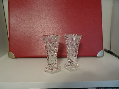 A pair of Small decorative bud or posy vases, could be candlesticks