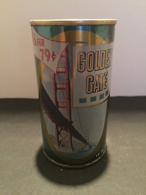"""Golden Gate"""" 6/79"""" Pull Top Beer Can..maier Brwg. Co. Los Angeles Ca. Rare!!!"""
