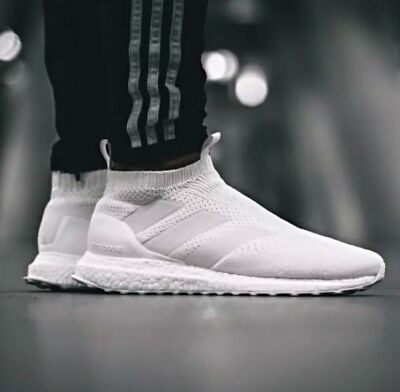 sale retailer bba83 00e1a NEW ADIDAS MEN S ACE 16+ ULTRABOOST SHOES AC7750 TRIPLE WHITE PRIMEKNIT  Mens 7.5
