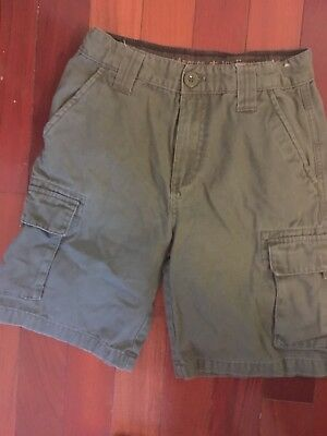 BOY SCOUTS OF AMERICA Youth 14 Uniform Shorts Cargo BSA Green Canvas