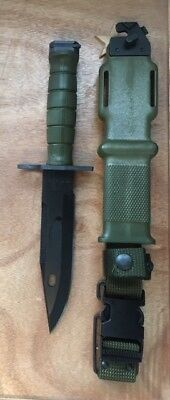(NEW in wrap) Tri-Technologies U.S. Military M9 Bayonet Combat Knife w/ Scabbard