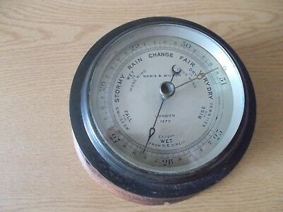 EARLY 20thC NORIE & WILSON BRASS WALL BAROMETER LONDON No. 1270 A/F
