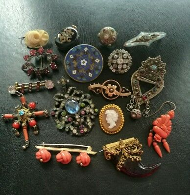 Job Lot Of Antique Jewellery For Spare Repair