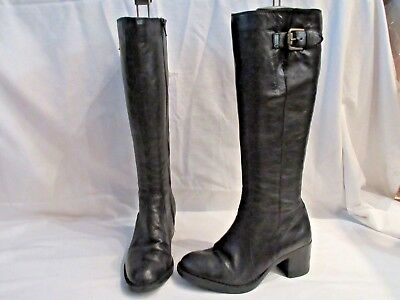 a6372320bff Clarks Mascarpone Ela Black Leather Mid Height Boots Uk 3 Eu 35.5 (1798)