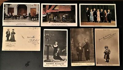 Lot Of 7 Vintage Little People Postcards Dwarf Tom Thumb Midget City Madam Melba