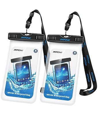 Waterproof Case 2Packs Mpow IPX8 Watertight Sealed Underwater Dry Bag