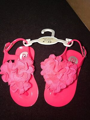 River Island Mini girls Pink corsage jelly sandals. Bnwt. Size Infant 5