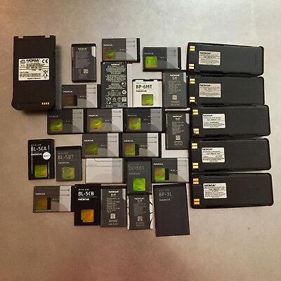 Lot of 29 Nokia Brand Mobile Phone Batteries - Over 2.1 lbs  - FREE SHIPPING