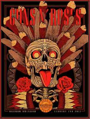 GUNS N ROSES : NEW ZEALAND .. (quality print )