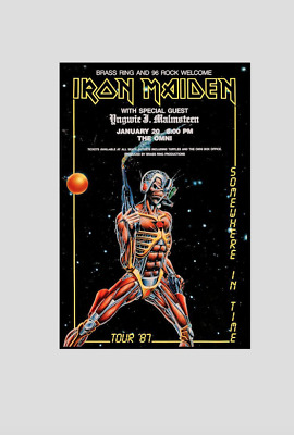 "IRON MAIDEN 87 Print !! "" Somewhere in Time  "" !"
