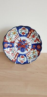 Beautiful Antique Late 19Th Century Japanese Hand Painted Imari Charger Plate.