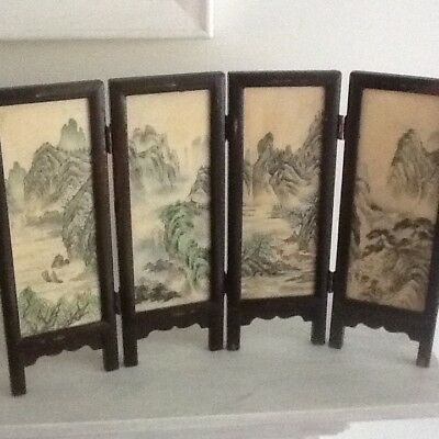 Small Vintage Chinese Table Screen