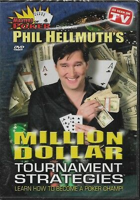Phil Hellmuth's Million Dollar Tournament Strategies (DVD/NEW/Free S/H) POKER