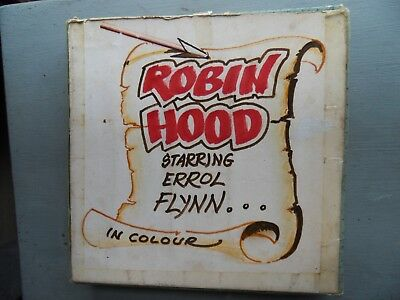 super 8 film Robin Hood Errol Flynn Basil Rathbone 2 x 400ft Colour/Sound