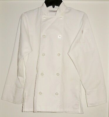 Chef Works LeMans Women's Chef Coat Jacket White XS BCW004 Flaw