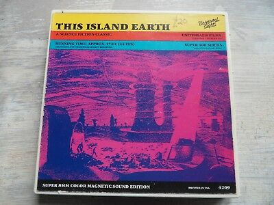 Super 8 Film This Island Earth 50s Sci-Fi 400ft reel Colour/Sound