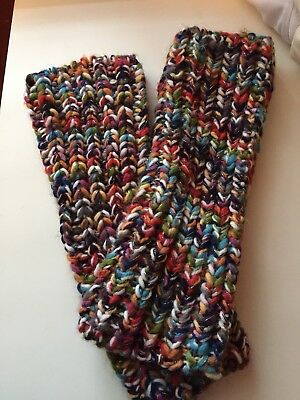 Arm Warmers Knitted One Size Multicolor Sparkly Thread