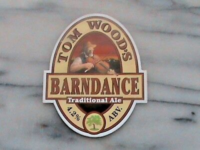Tom Wood's Barndance Traditional Ale Real Ale Beer Pump Clip Sign