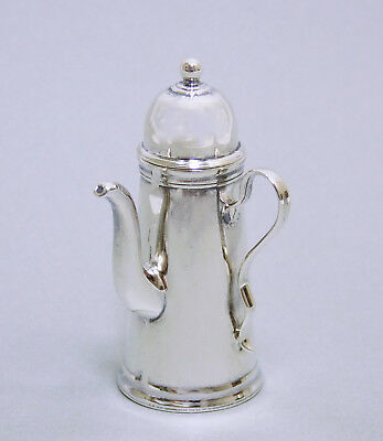Mma Sterling Silver Chocolate Pot Miniature Queen Anne Style Dollhouse