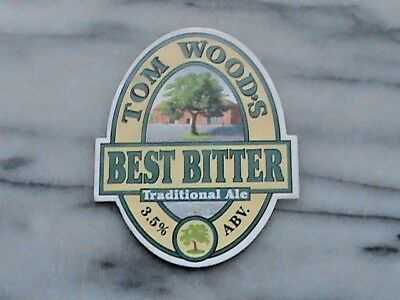 Tom Wood's Best Bitter Traditional Ale Real Ale Beer Pump Clip Sign