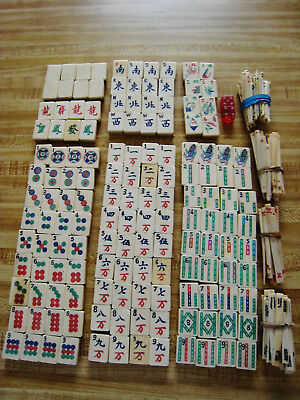 Old Chinese Mahjong Set 255 Pieces