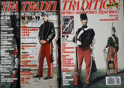Tradition French Military History and Uniforms Magazines 6, 18/19 & 26