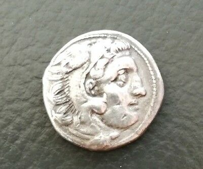 Greek Macedon Alexander Lampsakos Tarch Buekle Drachm 4.3 g/17mm ss++