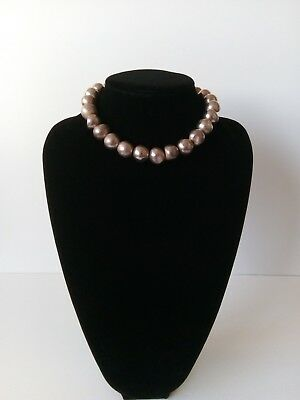 Sterling Silver Contemporary Bead Necklace & Earrings Set - Fully Hallmarked