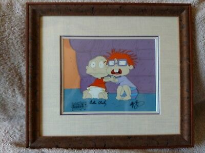 Vintage Rugrats Tommy And Chuckie Original Hand Painted Production Cel.  Signed.