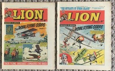 Vintage Lion Comics Royal Flying Corps RFC RAF Army Air AAC 22 Aug 1964 British