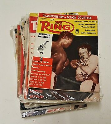 The Ring Boxing magazines 1960's