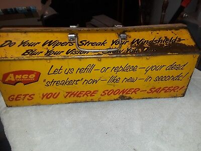 Vintage tool box. Anco by Anderson Wiper Blade Service Kit Tool Box Yellow