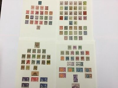 Old used stamps including early issues MAURITIUS x4 pages