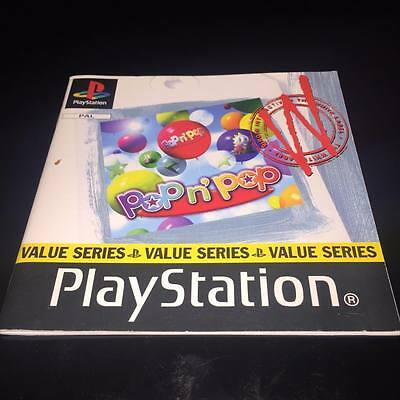 manual for pop n pop ps1 playstation 1 NO GAME DISC INCLUDED