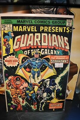Marvel Presents Guardians of the Galaxy #3 1975 Marvel Bronze Age Comic 1st Solo