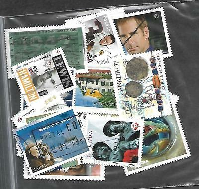 50 used stamps from canada 82