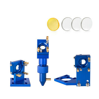 CO2 Laser Head Set Mirror Mount K40 2030 4060 Engraver Cutter with Lens & Mirror