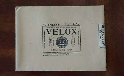 Vintage 1907 Velox Photo Paper Envelope