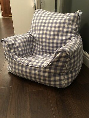 Jojo maman bebe Blue & White Bean Bag Chair