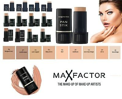 Max Factor Pan Stik Panstik Stick Foundation Full Coverage 9g All Shades