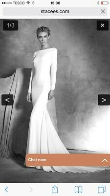 White Wedding dress, Megan Markle Style Simple Backless Fitted