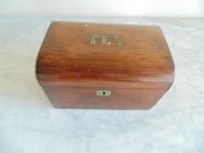 Small Victorian Rosewood Tea caddy