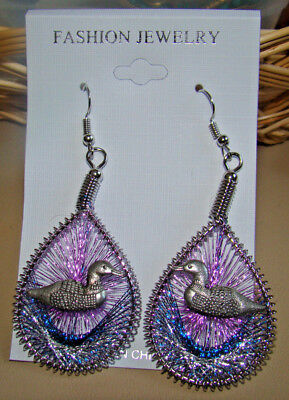 LOON MOUNTAIN SPIRIT DREAMCATCHER EARRINGS Custom Made NEW