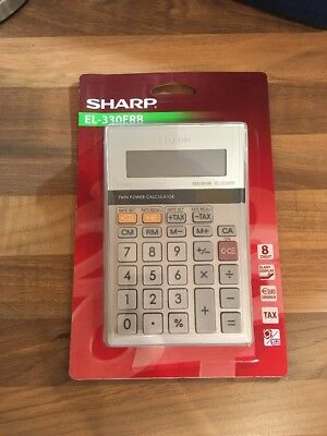 Sharp Calculator D/Top EL330ERB  AC NEW