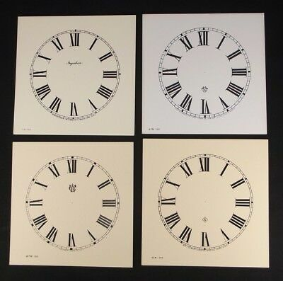 Vintage clock paper faces Roman numerals INGRAHAM ANSONIA GILBERT WATERBURY
