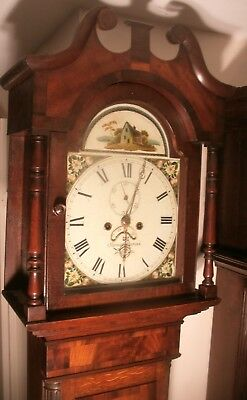 "Antique Oak ""  Boston  ""  Automaton Dial  8 Day Longcase / Grandfather Clock"