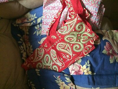 Vintage Cotton Aprons And Pillow Shams For Fabric  REDUCED PRICE!!!