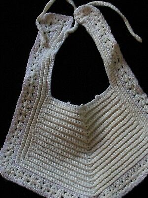 Infant bib -Vintage- Finely crocheted-For New Born